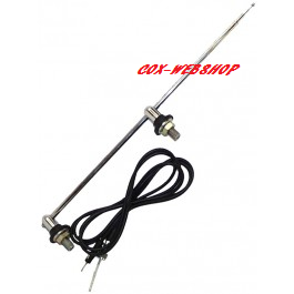 Antenne 2 points d'attache 1150mm pieds chromés 12/47->7/66