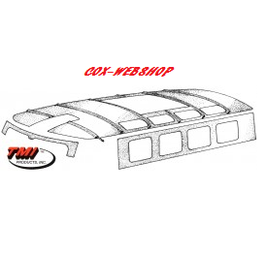Ciel de toit TMI blanc pour  combi pick-up 65->67