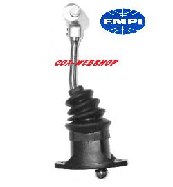 """levier de vitesse chromé «poignée en T» longueur 10"""" siglé EMPI (bouton de marche arrière sur le côté)"""