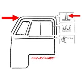 Set de 2 joints de porte supérieur sur caisse pour combi split