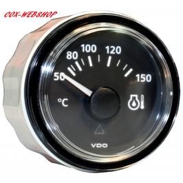 Manomètre de température d'huile 0-150°C fond noir