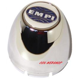 Cache moyeu en plastic chromé en forme d'obus pour jante EMPI 5 trous à caches moyeu à clipser