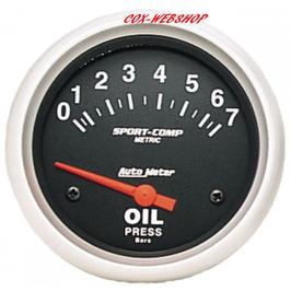 Manomètre de pression d'huile diamètre 67mm 0-7 bars