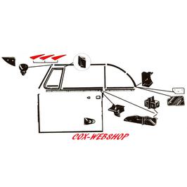 Joint de capotage avant pour coccinelle cabriolet de 58->64 (C)