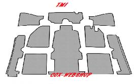 Kit moquette 10 pièces pour cox de 54->57 (Sans repose-pieds)