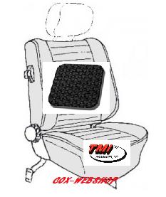 kit housses de sièges avant et arrière noir 77->