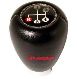 pommeau en vinyl noir avec le dessin des vitesses pour cox