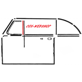 Joint vertical arrière de déflecteur pour cox cabriolet de 52->64  (H)