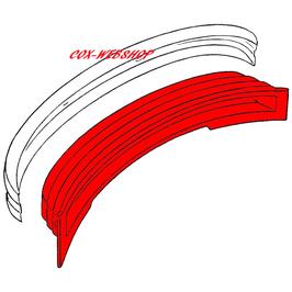 Panneau de déformation derrière le pare-choc pour combi 73->