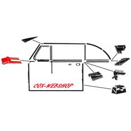 Set de 2 joints d'appuis de déflecteur sur la porte pour cox cabriolet de 54->64   (T)