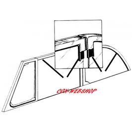 Set de 4 joints de cadre de vitres chromé de coccinelle cabriolet