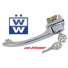 Poignée de porte gauche ou droite 8/65->7/66 (avec clefs) pour cox avec loquet de verrouillage de porte