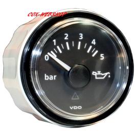 Manomètre de pression d'huile fond noir