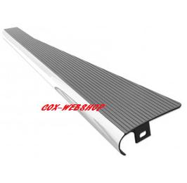 Set de 2 marchepieds en aluminium noir satiné avec bord poli