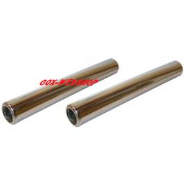 Paire de tubes silencieux en INOX 265 mm