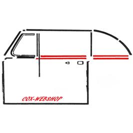 Set de 2 lèche vitre avant ou arrière intérieur ou extérieur gauche et droit 54->64   (J)