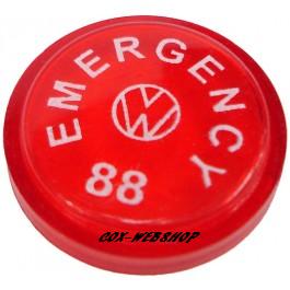 pastille d'interrupteur de warning 7/67-> sauf 1303