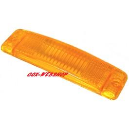 Glace de clignotant de pare-choc orange (avec marquage CE)