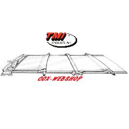 Ciel de toit pour coccinelle découvrable en tissu ivoire TMI