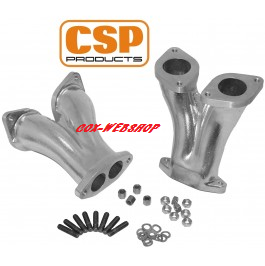 Set de 2 pipes d'admission droites CSP carbu IDF / HPMX
