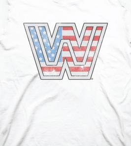 "WWE  Vintage ""Americana"" WWE Legends Logo Tee"