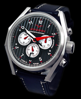 "Chronograph ""UMNYASHOV"" by UMNYASHOV, hand winding, stainless steel, polished, ø47mm"
