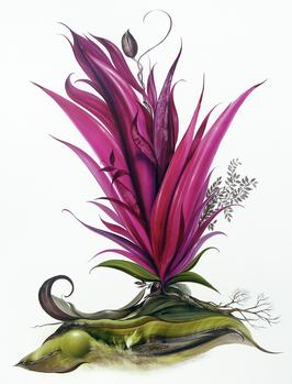 Kunstdruck - Flowerdream in Rot