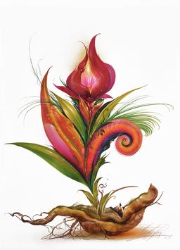 Kunstdruck - Thetaflower