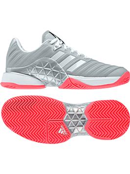 Adidas Damen Schuhe Barrikade , silber/pink, Allcourt