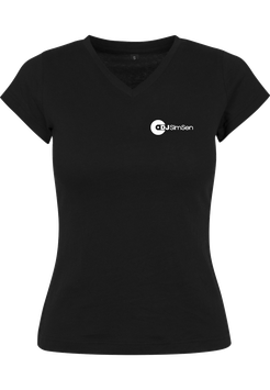 Dj SimSen Ladies Shirt black Logo klein