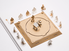 TERADA MOKEI - Papiermodell Sumo-Kampf