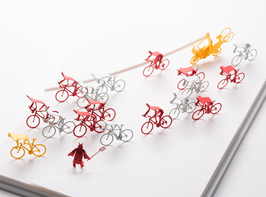 TERADA MOKEI - Papiermodell Fahrradrennen