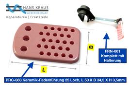 25-Loch-Keramik Fadenführung, Umlenksystem für bis zu 25 Garnfäden