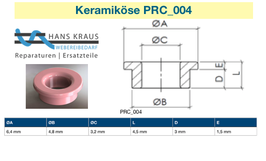 Keramikösen, Ceramik-Eylet, Keramikaugen zur Fadenführung.