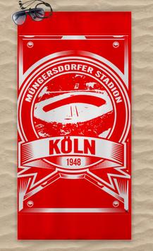 Köln Müngersdorfer Stadion Strandtuch Rot