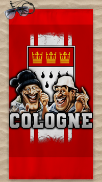 Köln Cologne Voll Normal Strandtuch