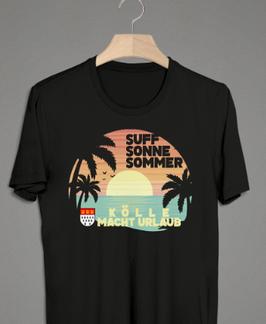 Köln Sommer Sonne Suff Sonnenuntergang Shirt