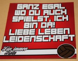 150 Aufkleber Köln Ganz Egal wo du auch spielst