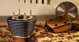 Biker Urne Harley Zylinder