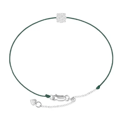 Diamantarmband LUCY moosgrün
