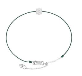 Diamantarmband LUCY moosgrün