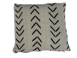 Mud Cloth Pillow White No. 2