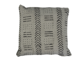Mud Cloth Pillow White No. 4