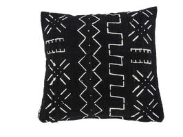 Mud Cloth Pillow Black No. 2