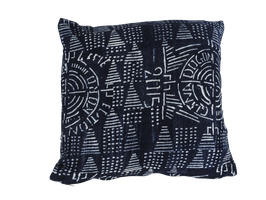 Mud Cloth Pillow Indigo No. 1