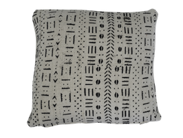 Mud Cloth Pillow White No. 1
