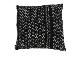 Mud Cloth Pillow Black No. 3