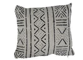 Mud Cloth Pillow White No. 5