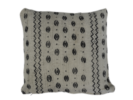 Mud Cloth Pillow White No. 3