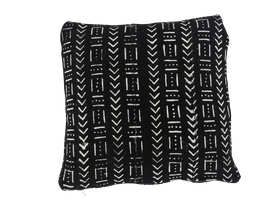Mud Cloth Pillow Black No. 4